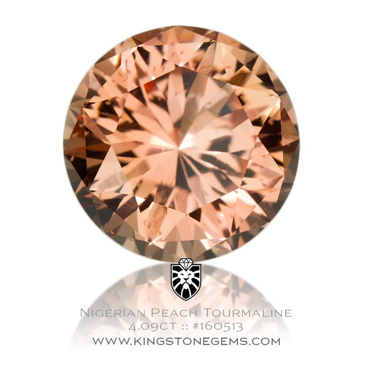 Nigerian Peach Tourmaline 4.09ct - 10.2X10.2X6.8mm - SKU# 160513 - We have the full range of coloured tourmalines in our large online collection.