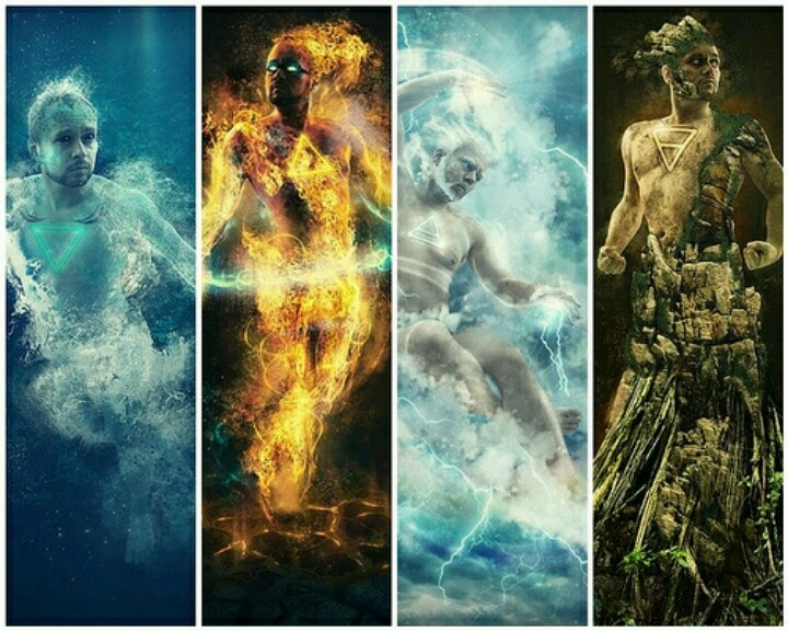 Elements: Air, Fire, Water, Earth. | Masculine Divinity ...