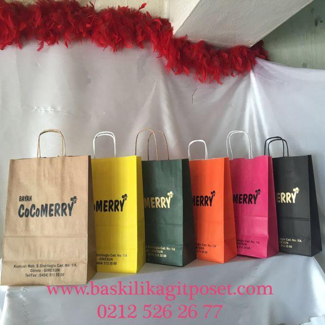 Renkli Kağıt Poşetler Fuar Çantaları   Beka Kağıtçılık