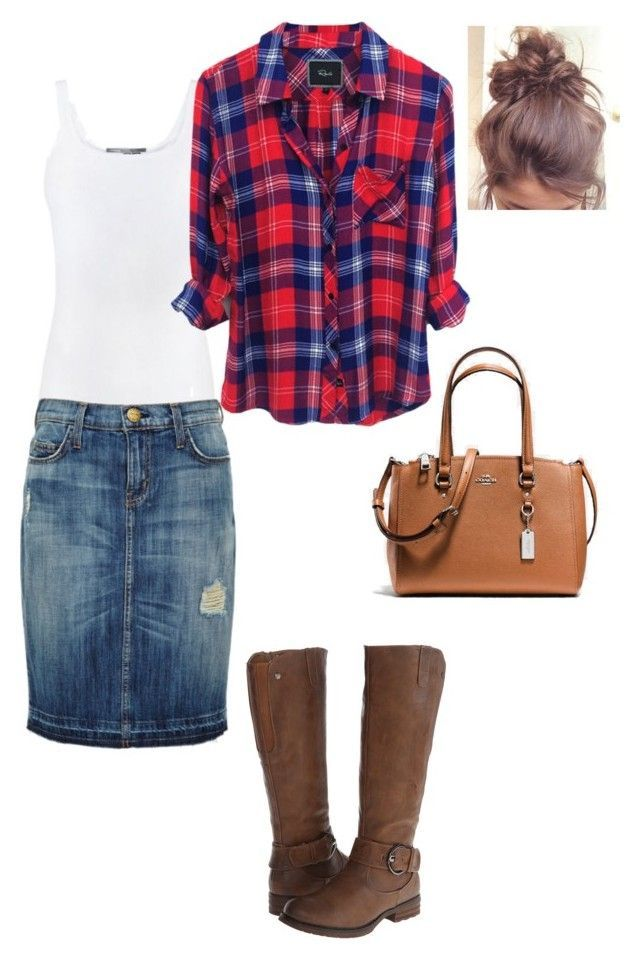 """""""Untitled #523"""" by brendansara1018 ❤ liked on Polyvore featuring Vince, Current/Elliott, Patrizia and Coach"""