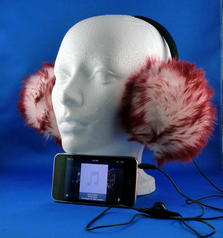 Fire MusicMuffs www.sarahblue.ca Stylish earmuffs with built-in stereo headphones to keep you warm this winter while you listen to your Music. Great sounding, built in headphone jack which allows you to use the MusicMuffs as regular earmuffs without a cord dangling down. All MusicMuffs are adjustable.