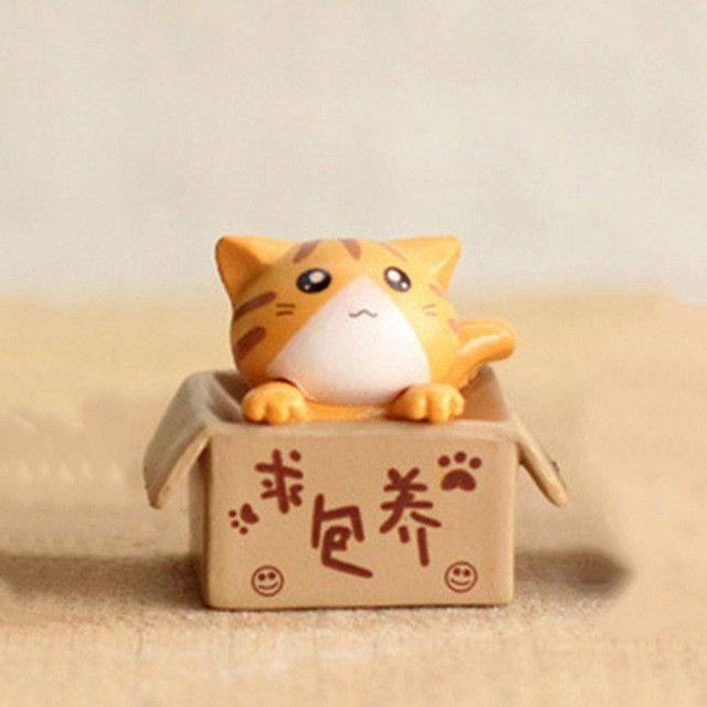 1 Pcs Cute Cartoon Lazy Cats For Micro Landscape Kitten Microlandschaft Pot Culture Tools Garden Decorations