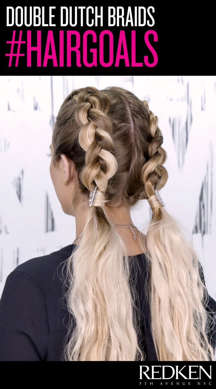 cool double dutch braid goals - love this style for long hair!... by http://www.dana-hairstyles.xyz/hair-tutorials/double-dutch-braid-goals-love-this-style-for-long-hair/
