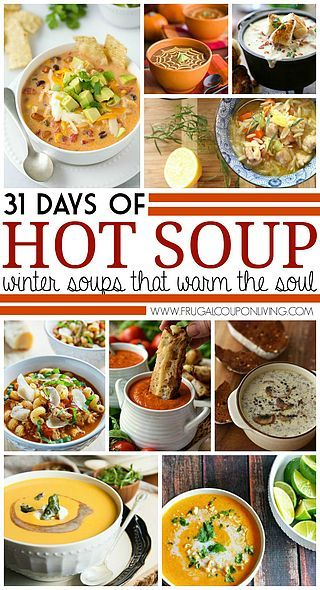 31 Days of Fall & Winter Soups | Frugal Coupon Living ℠ (Frugal Coupon Mom) | Bloglovin