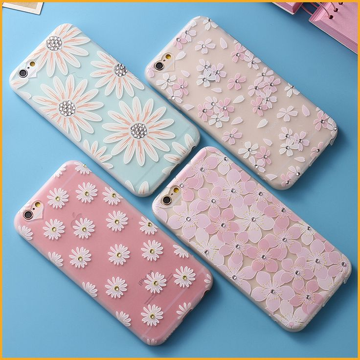 Rhinestone Floral Phone Protective Shell For Apple iphone 6 6S 6 Plus 6S Plus 7 7 Plus Back cover Case MN258/MN259/MN260/MN261 | iPhone Covers Online