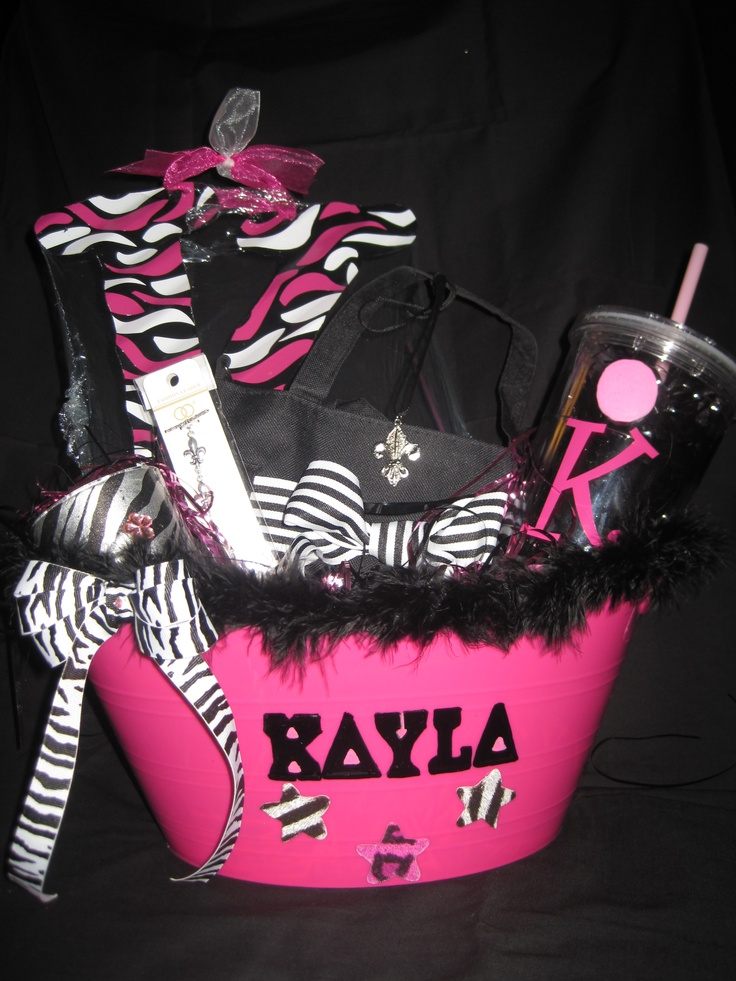 Sweet 16 Birthday Basket gift idea for your friends