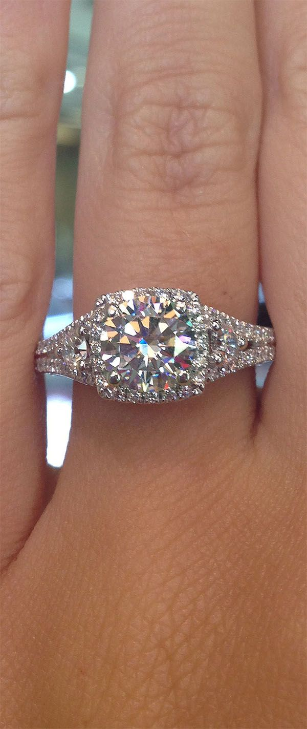 Square Halo Engagement Rings Eye Candy