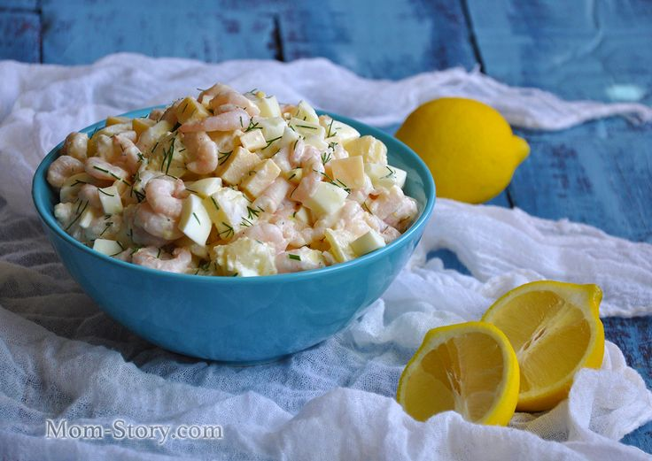 салат с креветками и ананасом рецепт