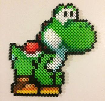 Yoshi (Mario) Perler Beads by iameliza