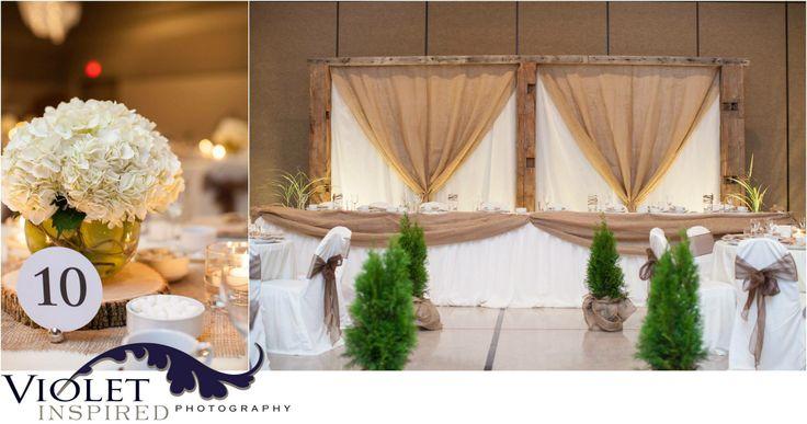 Rustic Wedding Reception Backdrop