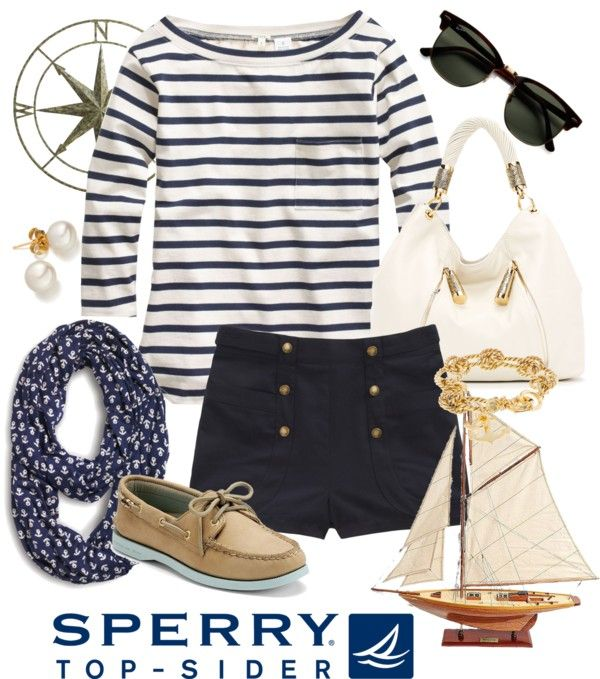 """""""Set Sail with Sperry Top-Sider"""" by anniepro on Polyvore"""