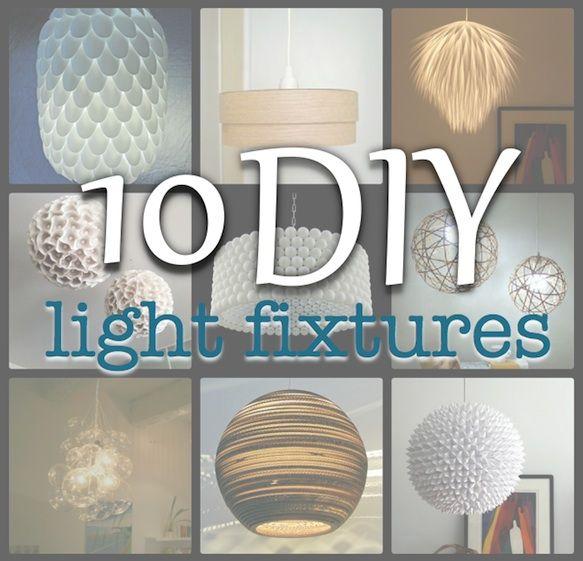 Meer dan 1000 ideen over light fixture covers op pinterest simply living 10 diy light fixtures mozeypictures Choice Image