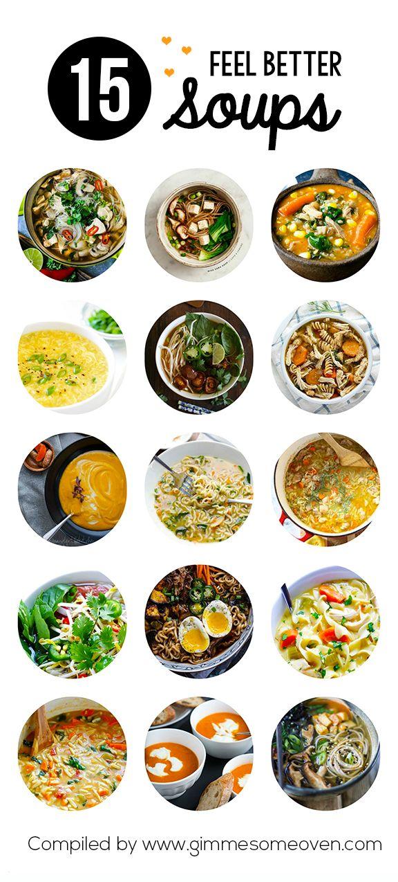 15 Feel Better Soup Recipes | gimmesomeoven.com