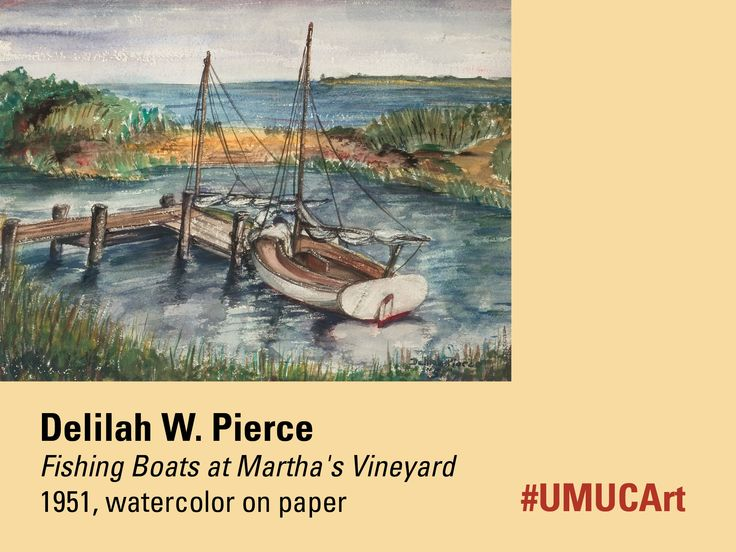 This week's #UMUCArt featured work is from Washington, D.C.-born Delilah W. Pierce. Known for her fluid style, which ranged from figurative to abstraction, her colorful compositions are inspired by nature, traditional art historical subjects, and her travels to Europe and Africa. This particular piece can be seen at our Adelphi campus exhibition, Delilah W. Pierce: Natural Perspective. It will be on view, starting tomorrow through January 3, 2016.