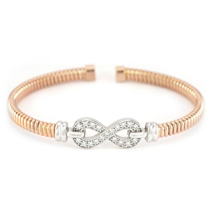 One pretty rose-gold plated silver bracelet. Affordable and ready to wear! #silverbracelet #londongold #finejewelry