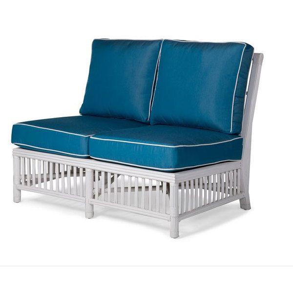 Williamsburg Sectional Armless Loveset Wicker Loveseat Love Seat Furniture