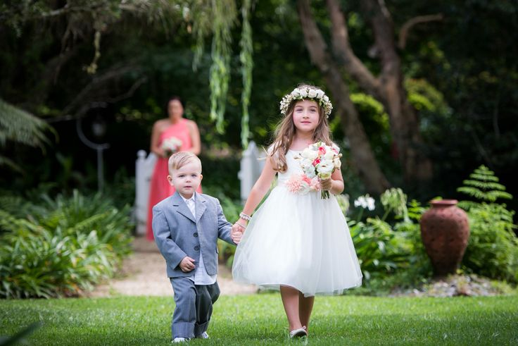 Gorgeous flower girl and page boy