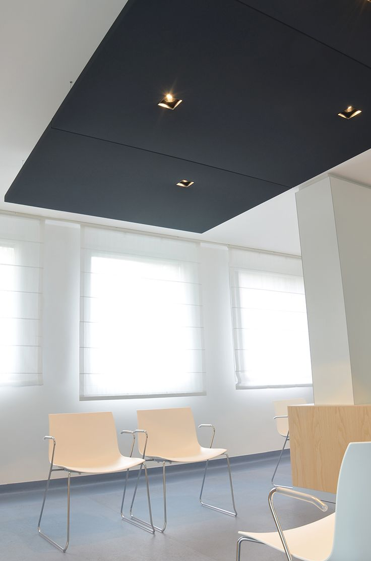 Silente sound-absorbing panels, with integrated LED lighting and optional light modulation