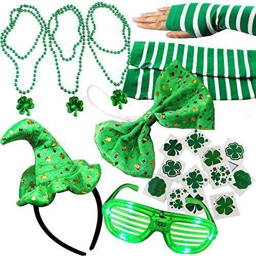St Patricks Day 20 Pcs Dressing Costum Up Accesories Patrick's Shamrock Irish #StPatrick