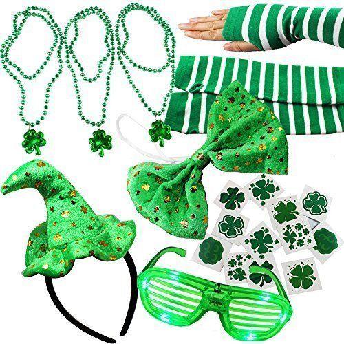 St Patricks Day 20 Pcs Dressing Costum Up Accesories Patrick's Shamrock Irish #StPatrick