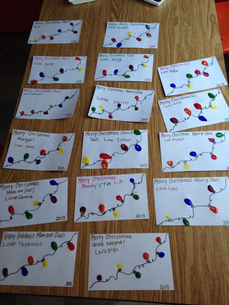 Second grade Christmas craft! May your holidays be bright!