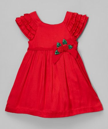 Look at this #zulilyfind! Red Ruffle Dress - Infant & Toddler #zulilyfinds