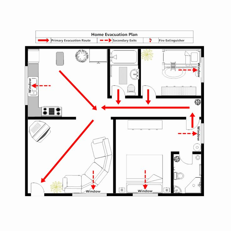 Home Evacuation Plan Template Best Of Home Evacuation Plan 3 Evacuation Plan How To Plan Evacuation House floor plan with emergency exit