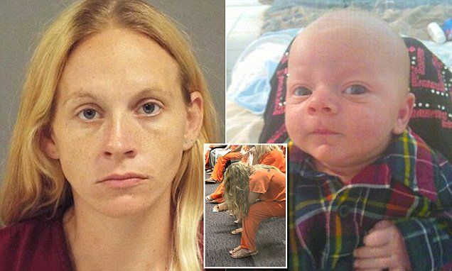 Mother who beat her nine-week-old son to death kills herself in prison