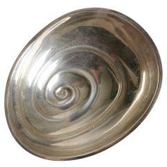 Tapio Wirkkala's Snail bowl in silver