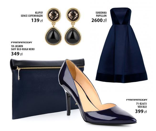 Królewski granat to idealny kolor na elegancki bal sylwestrowy. Lakierowane czółenka PRIMAMODA świetnie dopełnią prostą sukienkę bez ramiączek, a szykowną kopertówkę możesz także nosić na ramieniu dzięki dołączonemu paskowi.  bit.ly/PRIMAMODAlakierowane bit.ly/PM-Kopertówka