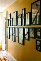 Image detail for -... montage wall filled with candid pictures of our family adventures