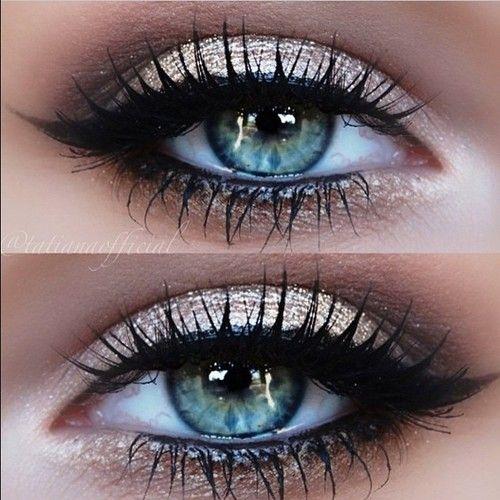 eyes, makeup, gorgeous champaign eyeshadow