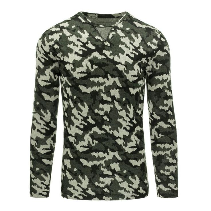 Pánský moderní svetr v motivu lesní kamufláže