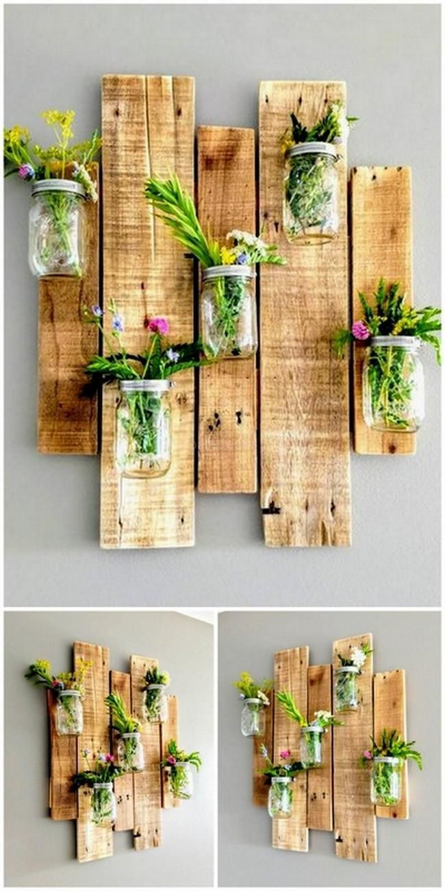 Incredible ideas for reusing wasted wooden pallets #garde … #WoodWorking