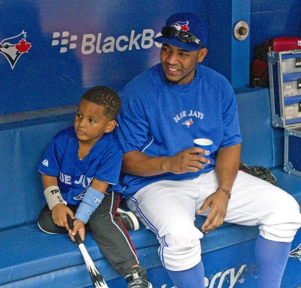 Edwin Encarnacion and his son