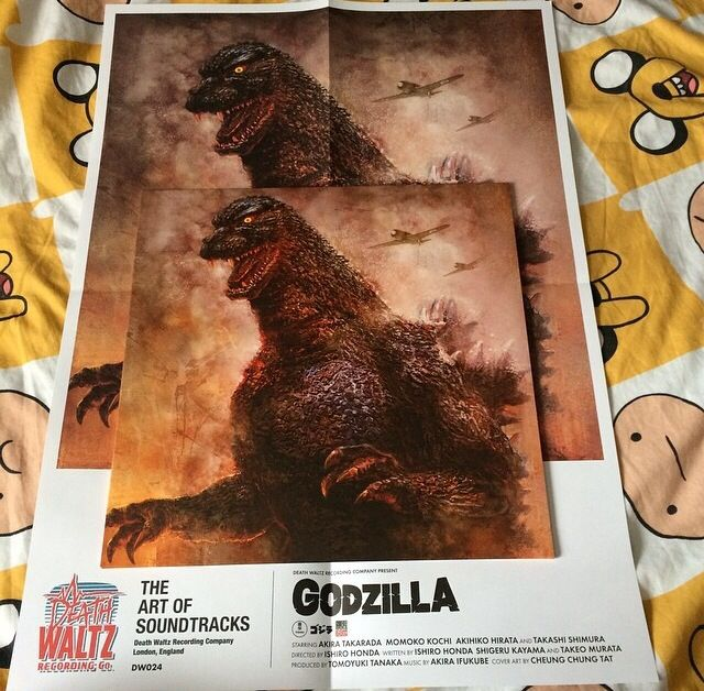 Godzilla 1954 soundtrack with poster