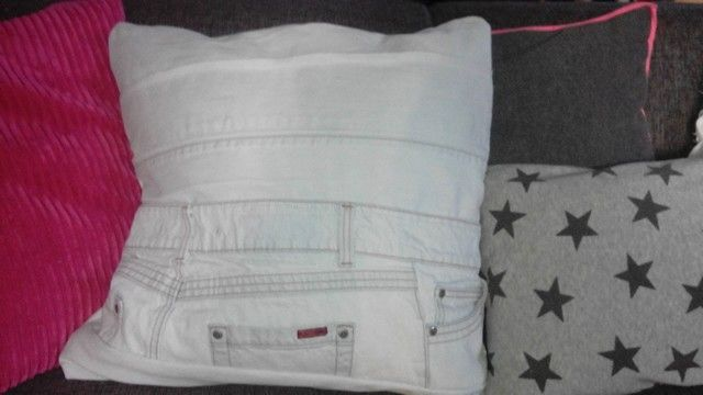 Jeans kussenhoes
