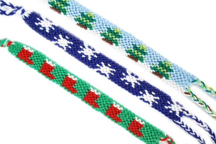 Prism® Christmas Friendship Bracelets #christmas #craft