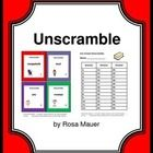 Ice Cream: Ice cream is the focus of these 36 word unscramble task cards. There is a scrambled word on each ice cream task card. Students are to un...