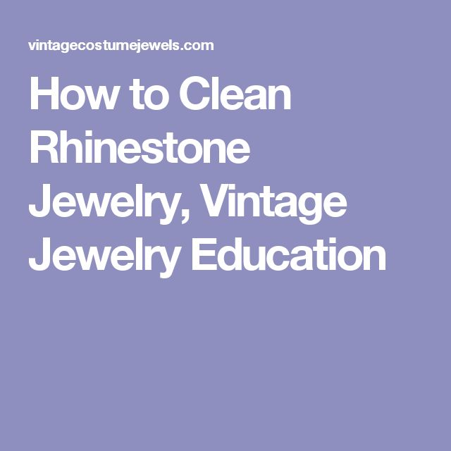 How To Clean Vintage Rhinestone Jewelry 87