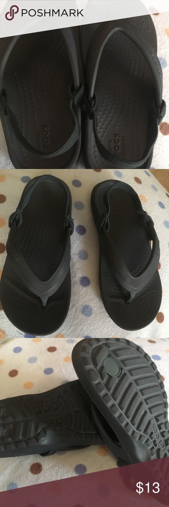 Crocs iconic comfort! Size C10! Crocs iconic comfort! Size C10! It's unixes for baby or girls. Style water Sandal.It's condition used . It's plastic material.color blue marine.and everything good condition . It's beautiful easy for the baby.for more information it's and the photos. CROCS Shoes Baby & Walker