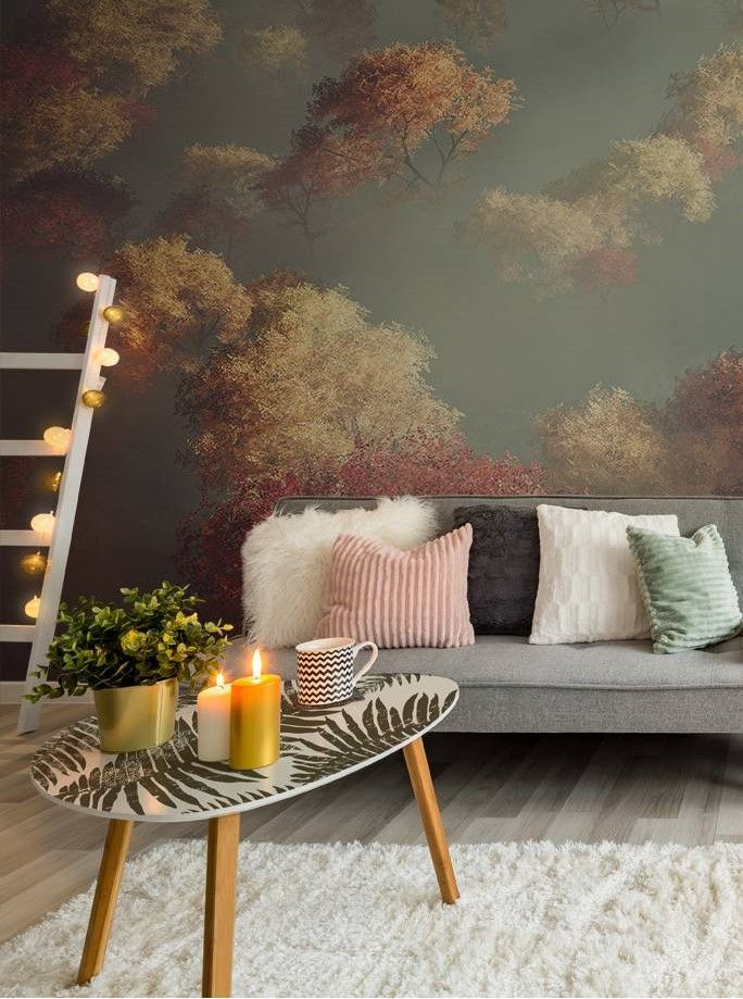 Autumn In The Living Room Wall Murals Stickers Nature Living Room Contemporary Pixers We Live To Change Fall Living Room Decor Living Room Design Colour Cozy Living Room Furniture