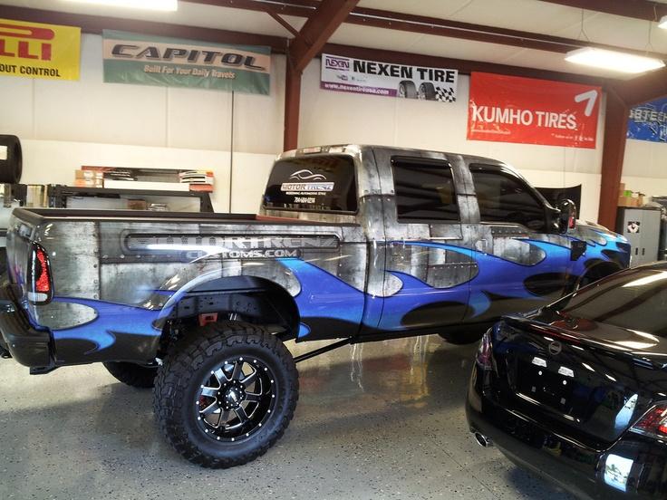 Truck wrap for motortrenz in raleigh nc www skinzwraps com