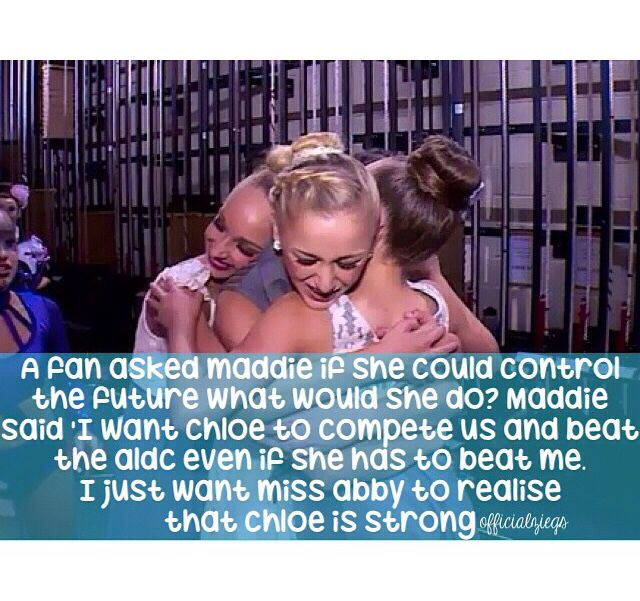 That is such an amazing thing to say I love u Maddie and u too Chloe!!!!