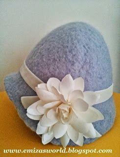 Emiza 'Sevgiyle yapılan el sanatları': Islak Keçe Yöntemi 'Şapka' Yapımı / DIY :Wet Felted Clouche Hat
