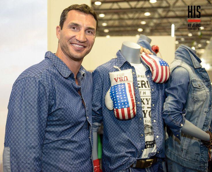 Auf der Modemesse Panorama in Berlin präsentierte Wladimir Klitschko seine Frühjahr/Sommer-Kollektion für 2014 mit dem Modelabel H.I.S. Wladimir Klitschko, einer der beiden bekannten Box-Brüder, ma...