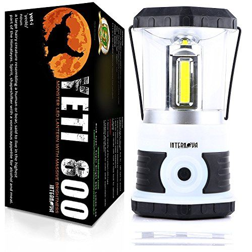 Internova Yeti 800 Monster LED Camping Lantern - Massive Brightness with Tri-Strip Lighting LED Lantern - Emergency - Backpacking - Hiking - Auto - Home - College (Himalayan White). For product & price info go to:  https://all4hiking.com/products/internova-yeti-800-monster-led-camping-lantern-massive-brightness-with-tri-strip-lighting-led-lantern-emergency-backpacking-hiking-auto-home-college-himalayan-white/