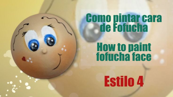Como pintar cara fofucha 4 - How to paint fofucha face 4