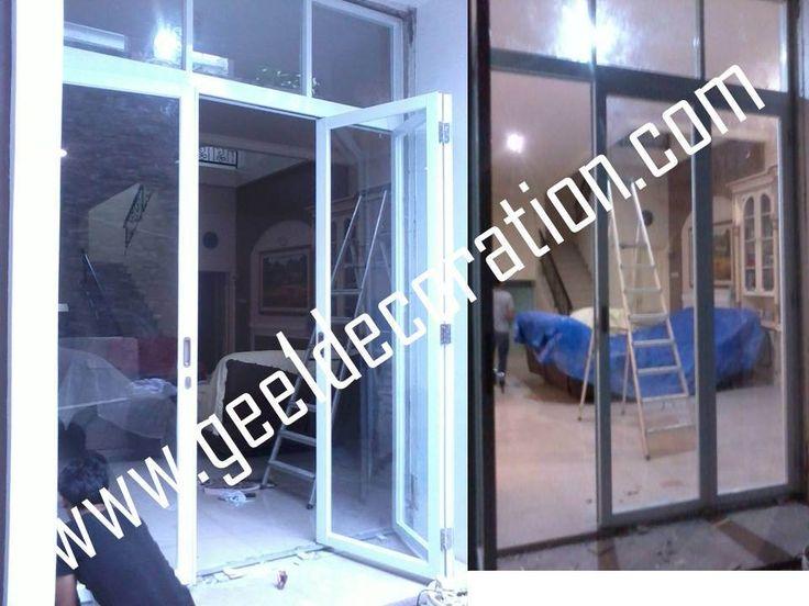 pintu lipat aluminium dan kaca (2/3)