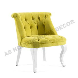 AS Koltuk Home Decor: For Sale - Classic Chartreuse Yellow Single Sofa